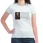 Benjamin Franklin 2 Jr. Ringer T-Shirt