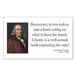 Benjamin Franklin 2 Rectangle Sticker