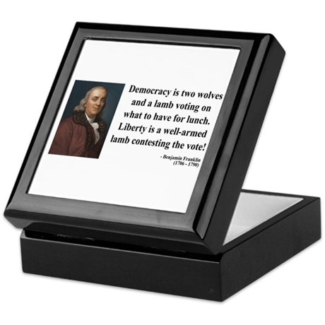 Benjamin Franklin 2 Keepsake Box