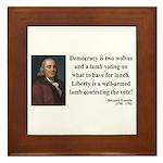 Benjamin Franklin 2 Framed Tile