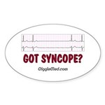Got Syncope? 2 Oval Sticker (50 pk)