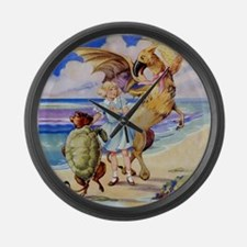 ALICE & THE MOCK TURTLE Large Wall Clock