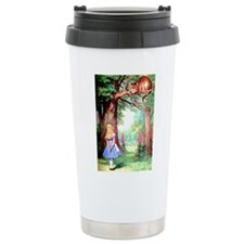 Alice and the Cheshire Cat Travel Mug