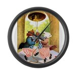 ROOSEVELT BEARS LET FREEDOM R Large Wall Clock