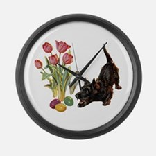 EASTER SCOTTIE Large Wall Clock