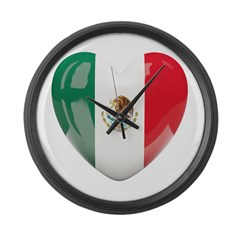 My Mexican Heart Large Wall Clock