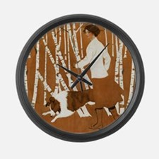 THROUGH THE WOODS Large Wall Clock