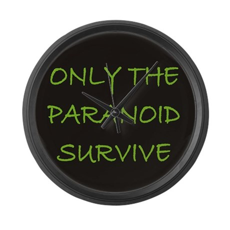 Only The Paranoid Survive Large Wall Clock