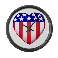 MY AMERICAN HEART Large Wall Clock