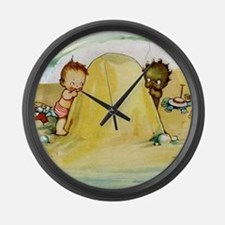 WHY CAN'T WE BE FRIENDS Large Wall Clock