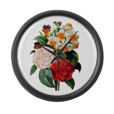 CAMELIA BOUQUET Large Wall Clock