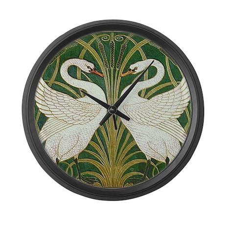 SWANS GREEN Large Wall Clock
