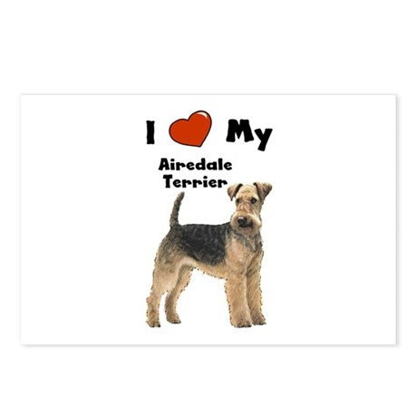 I Love My Airedale Terrier Postcards (Package of 8