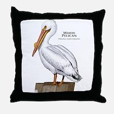 White Pelican Throw Pillow