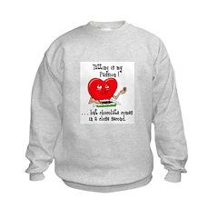 Tatting and Chocolate Sweatshirt