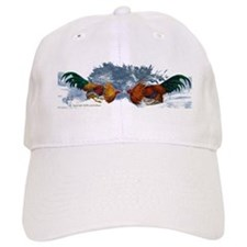 Flared Hackles Baseball Cap (white)