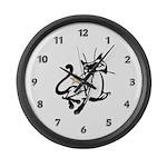 Siamese Cat Royalty Large Wall Clock