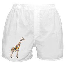 Multicolored Giraffe Boxer Shorts