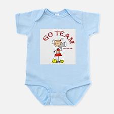 Go Team Cheerleading Infant Bodysuit