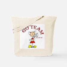 Go Team Cheerleading Tote Bag