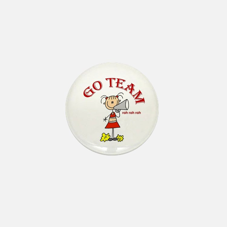 Go Team Cheerleading Mini Button