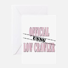 Official USNG Low Crawler (girl) Greeting Card