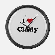 I love Cindy Large Wall Clock