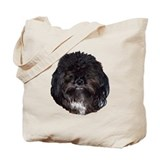 Black shih tzu Canvas Bags