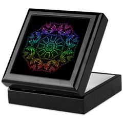 Rainbow Wheel Keepsake Box