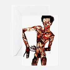 Egon Schiele Self-Portrait Greeting Card