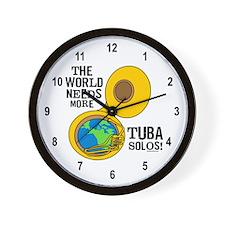 Tuba Solos Wall Clock