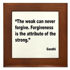 Gandhi Forgiveness Quote Framed Tile