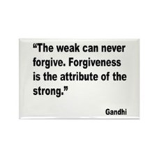 Gandhi Forgiveness Quote Rectangle Magnet