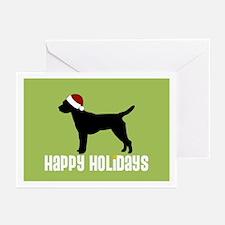 "Border Terrier ""Santa Hat"" Greeting Cards (Pk of 1"