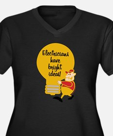 Electricians Women's Plus Size V-Neck Dark T-Shirt