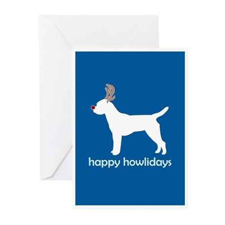 "Border Terrier ""Antlers"" Greeting Cards (Pk of 10)"