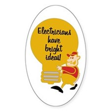 Electricians Oval Decal