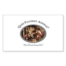 What Would Aeneas Do? Rectangle Decal