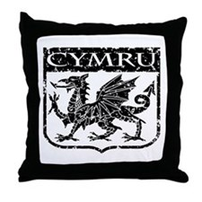 CYMRU Wales Throw Pillow