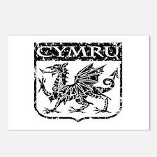 CYMRU Wales Postcards (Package of 8)