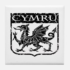 CYMRU Wales Tile Coaster