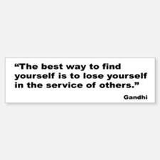 Gandhi Find Yourself Quote Bumper Bumper Bumper Sticker