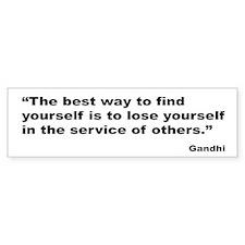 Gandhi Find Yourself Quote Bumper Car Sticker