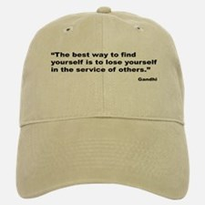 Gandhi Find Yourself Quote Baseball Baseball Cap