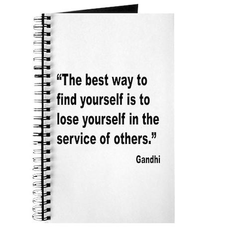 Gandhi Find Yourself Quote Journal