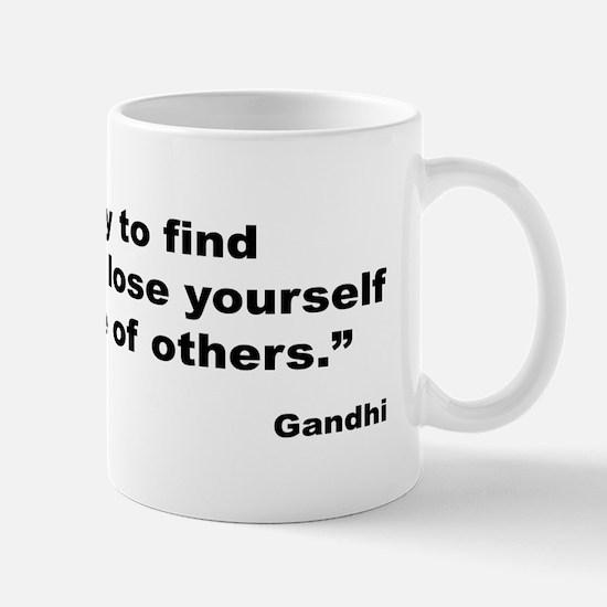 Gandhi Find Yourself Quote Mug