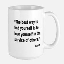 Gandhi Find Yourself Quote Large Mug