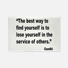 Gandhi Find Yourself Quote Rectangle Magnet (10 pa