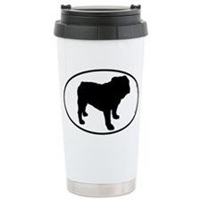 Bulldog SILHOUETTE Travel Coffee Mug