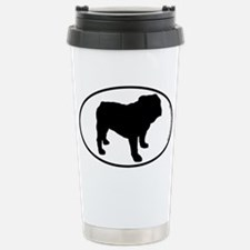 Bulldog SILHOUETTE Travel Mug